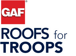 GAF Roof for Troops just GAF Logo